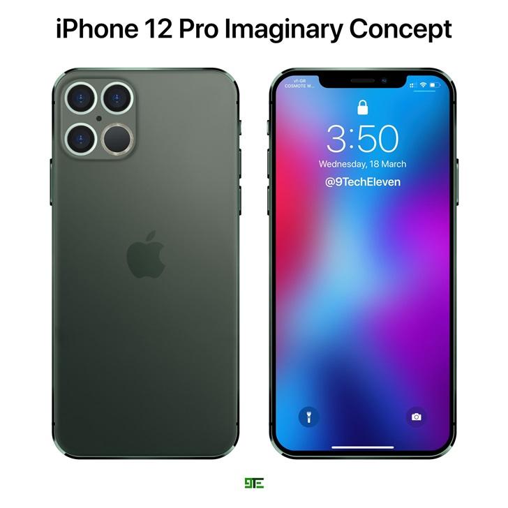 """苹果 iPhone 12 Pro 最新概念图曝光:""""浴霸""""四摄,LiDAR 加持"""