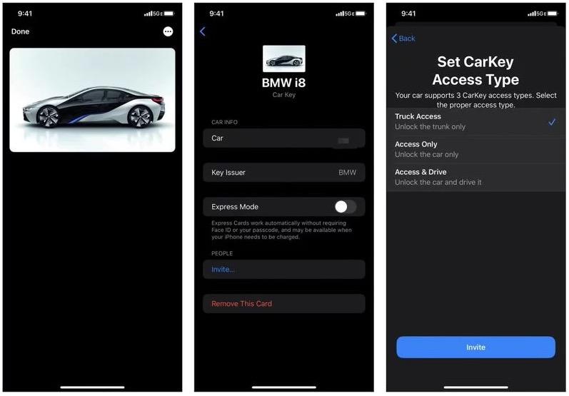 iOS CarKey 车钥匙截图曝光,首批支持宝马