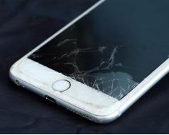 苹果手机外屏破碎
